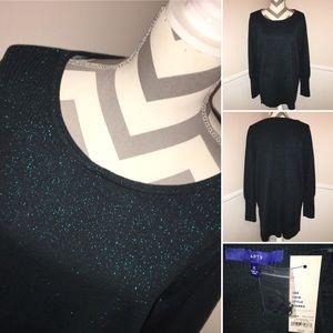 APT. 9 | NWT | green sparkle long sleeve sweater